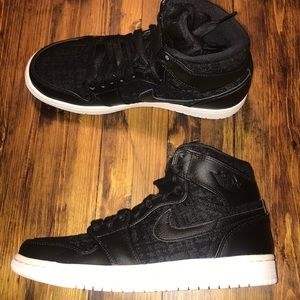 Air Jordan 1 retro hi prem black pattern